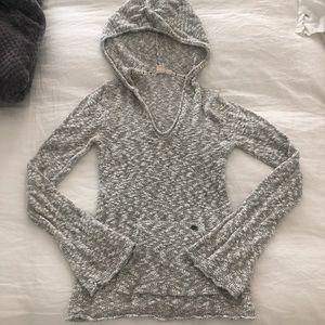 Roxy Grey Hoodie W/ Bell Sleeves